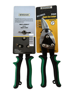 "Renegade 10"" Right Cut Aviation Snips – Green - Timothy's Toolbox"