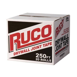 "Ruco Drywall Joint Tape 2-1/6"" x 250' Carton- 20 rolls - Timothy's Toolbox"