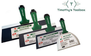 "USG Sheetrock Professional Drywall Taping Knives (6,8,10,12"") Set - Timothy's Toolbox"