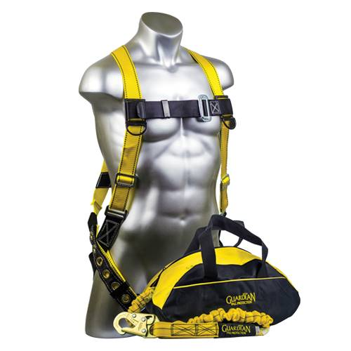 Guardian Fall Protection Velocity Harness/Lanyard Kit - S-L - Timothy's Toolbox