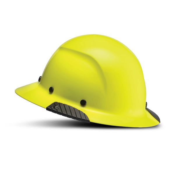 LIFT Safety DAX HiVis Yellow Full Brim Hard Hat w/ Ratchet Suspension
