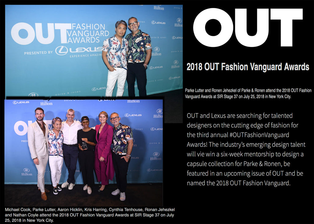 Out Magazine Attends The Fashion Vanguard Awards With Parke & Ronen