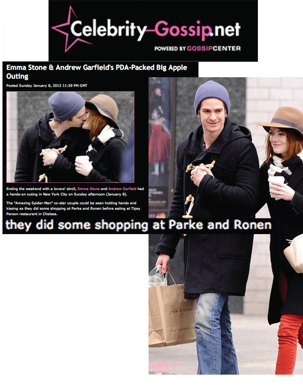 Emma Stone And Andrew Garfield Shopping At Parke & Ronen's New York City Boutique