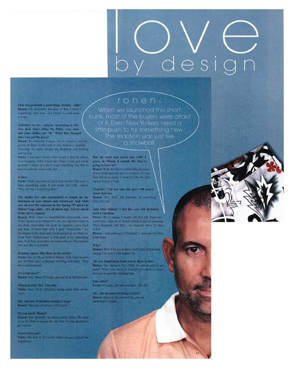 Love By Design Ronen Interview