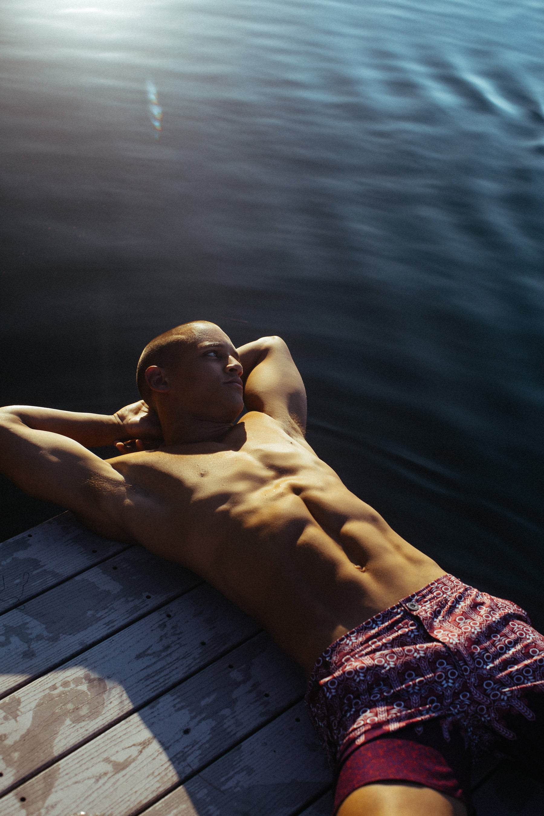 Parke & Ronen Summer campaign image of male model and water