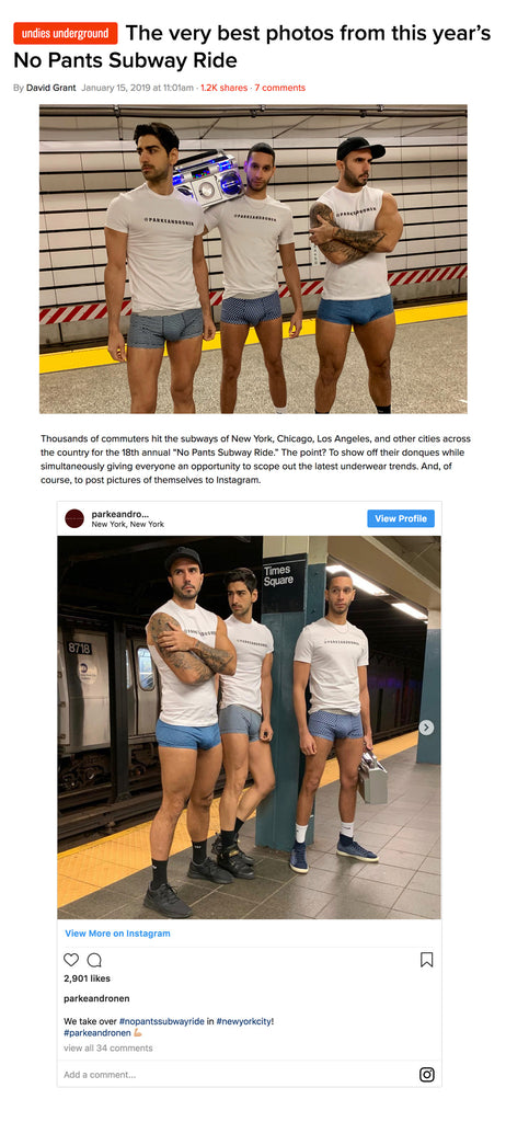 Queerty And Parke & Ronen Spotted On The NYC No Pants Subway Ride
