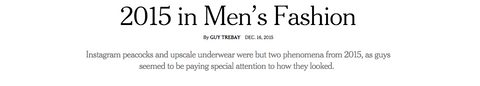 NYT 2015 in Men's Fashion
