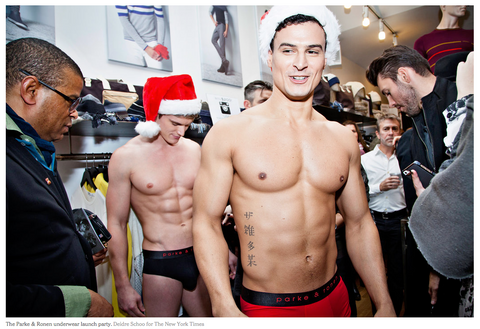 The Parke & Ronen underwear launch party. Credit Deidre Schoo for The New York Times