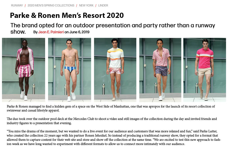WWD - Parke & Ronen Men's Resort 2020