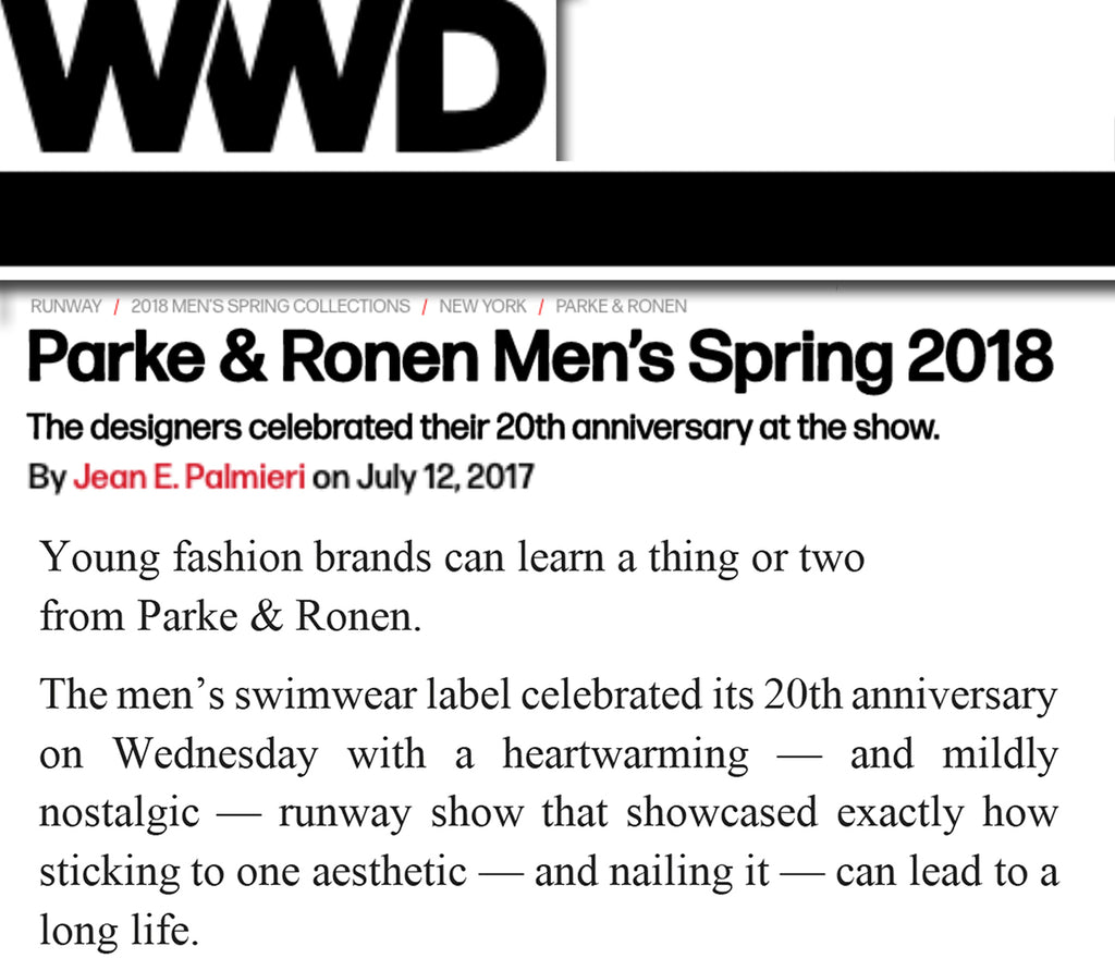 WWD Celebrates 20 Years Of Parke & Ronen