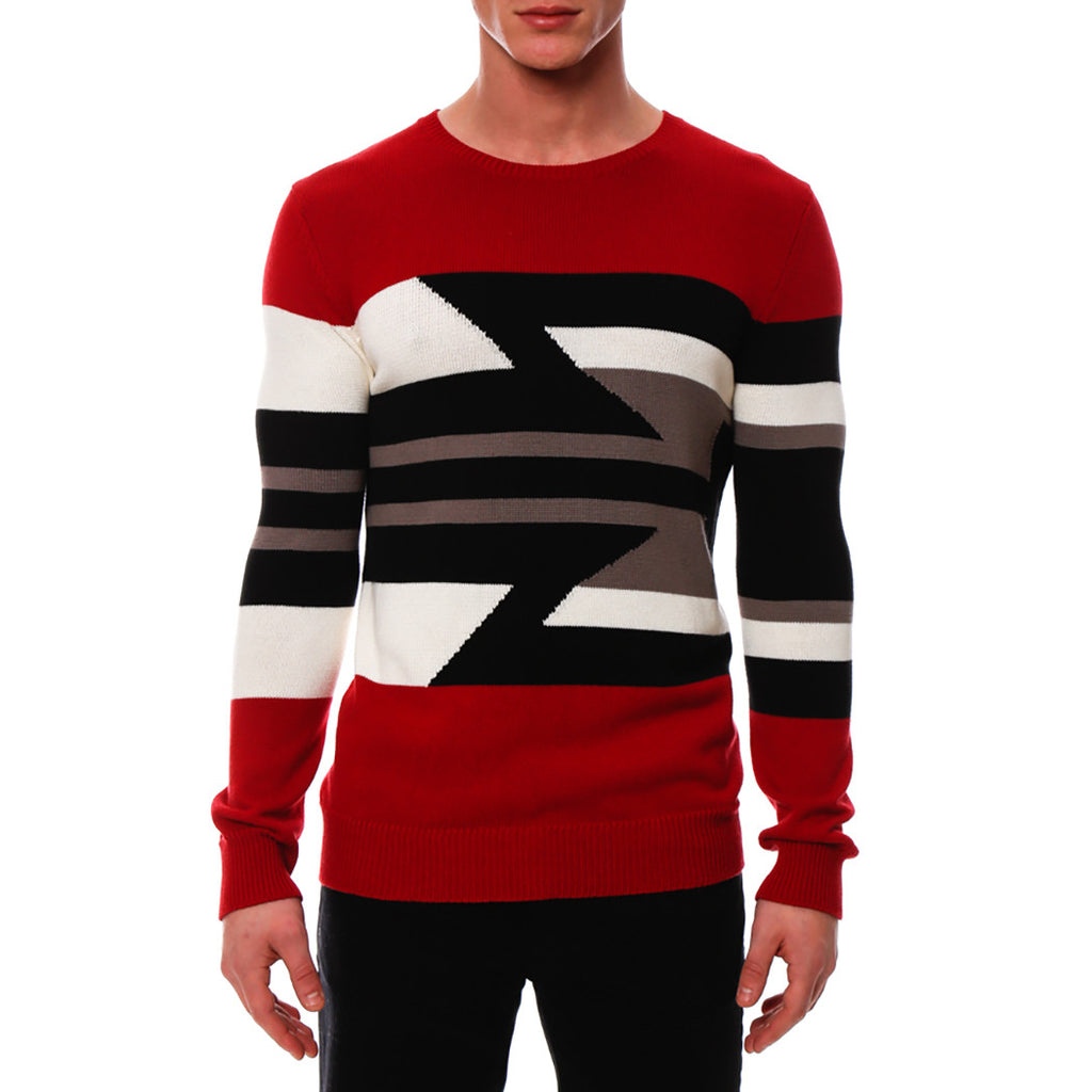 [parke & ronen] Aztec Knit Sweater - red