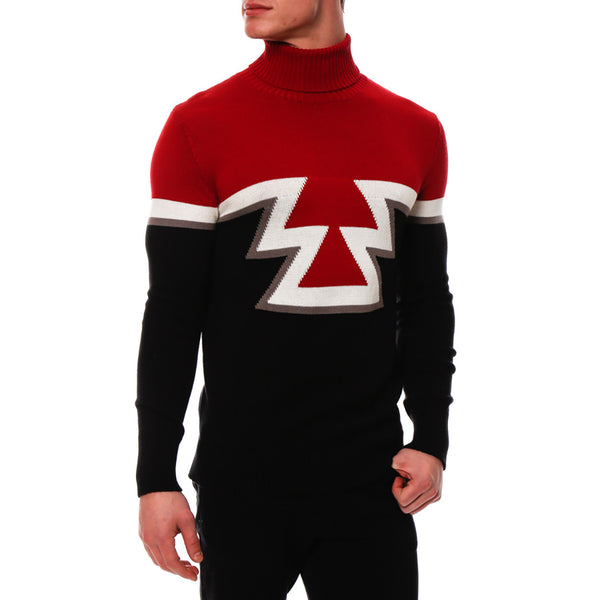Aztec Knit Turtleneck