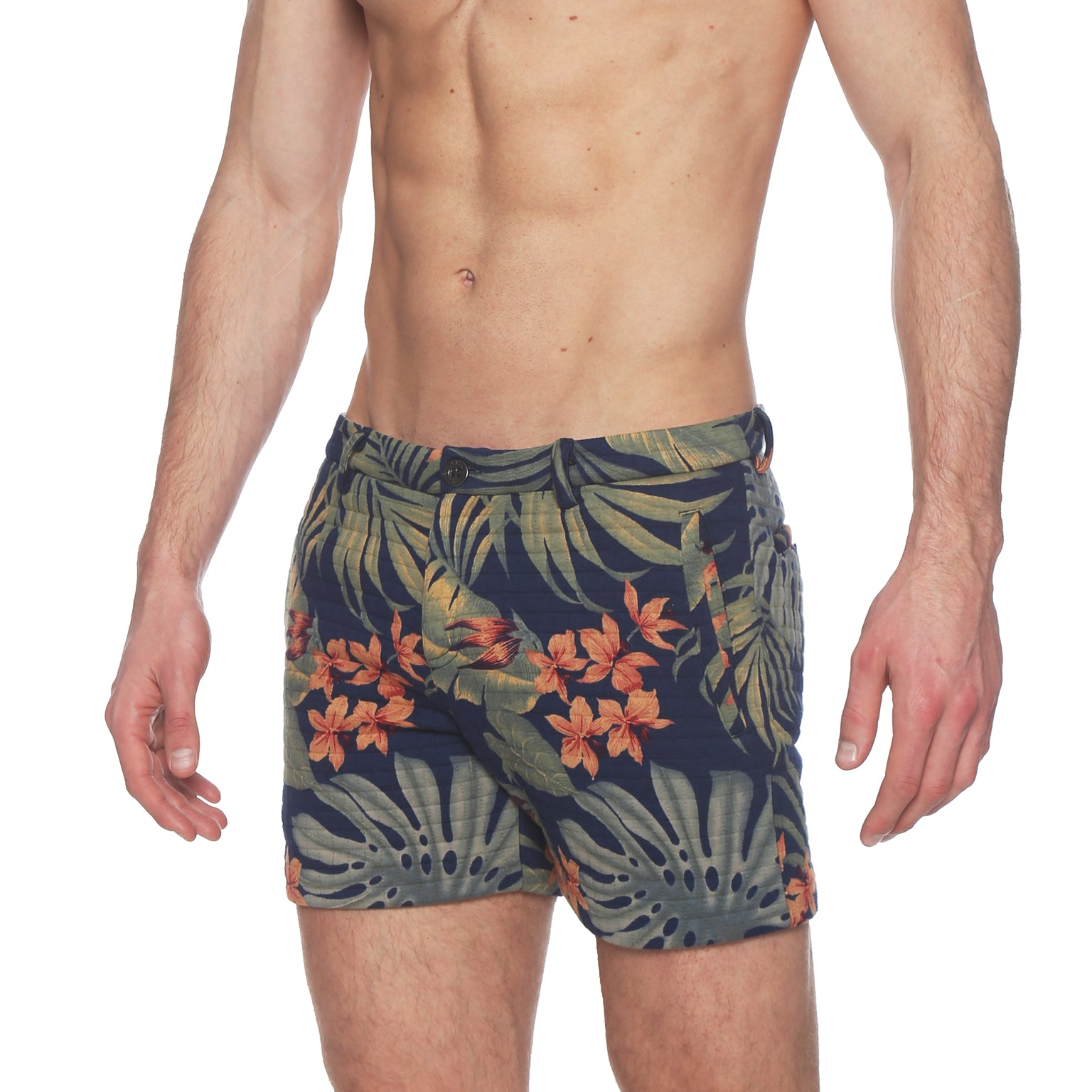 Navy Tropical Print