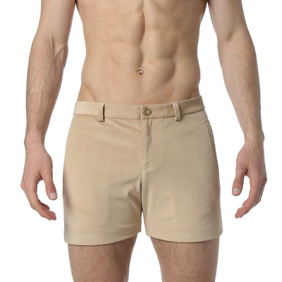 Sand Stretch Velvet Holler Short - parke & ronen