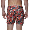 [parke & ronen] Ficus Print Stretch Holler Short - ficus rouge (Thumbnail)