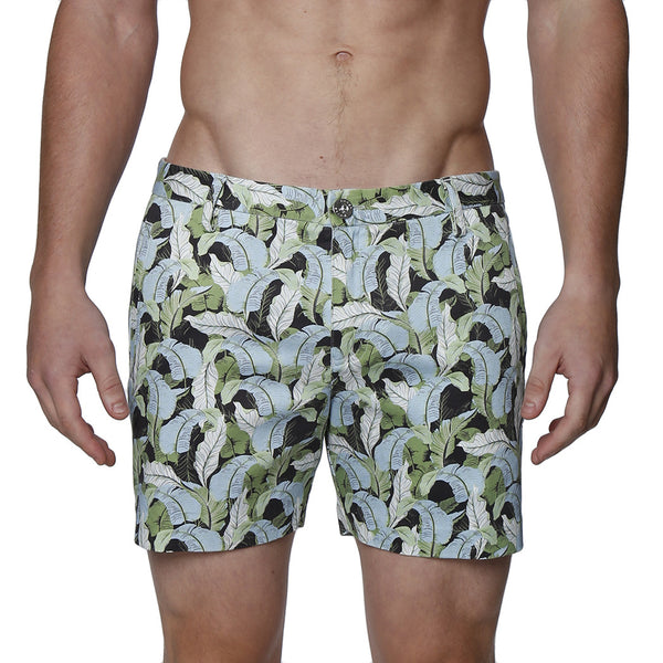 Ficus Print Stretch Holler Short