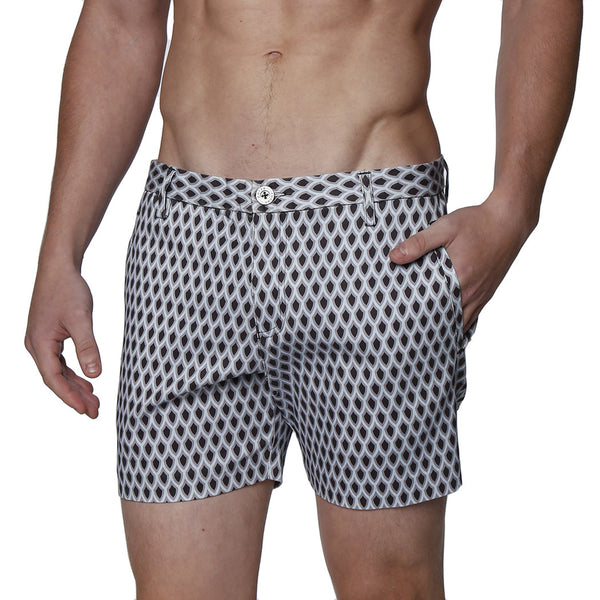 Spades Print Stretch Holler Short