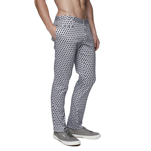 Spades Print Stretch Trouser