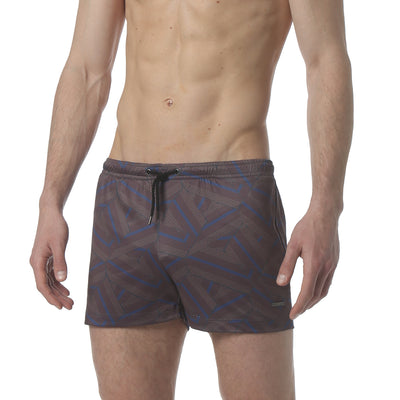 "Dragon Brown 3"" Dragon Print P-Town Short - parke & ronen"