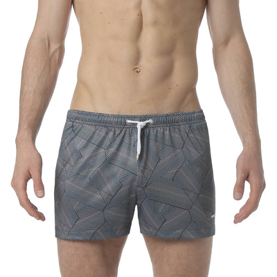 "Dragon Navy 3"" Dragon Print P-Town Short - parke & ronen"