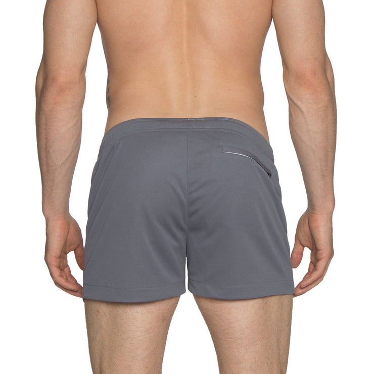 "Charcoal 3"" Solid P-Town Short - parke & ronen"