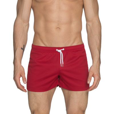 "Dark Red 3"" Solid P-Town Short - parke & ronen"
