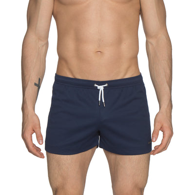 "Navy 3"" Solid P-Town Short - parke & ronen"