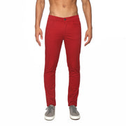 Crimson Solid Stretch Apollo Jeans - parke & ronen