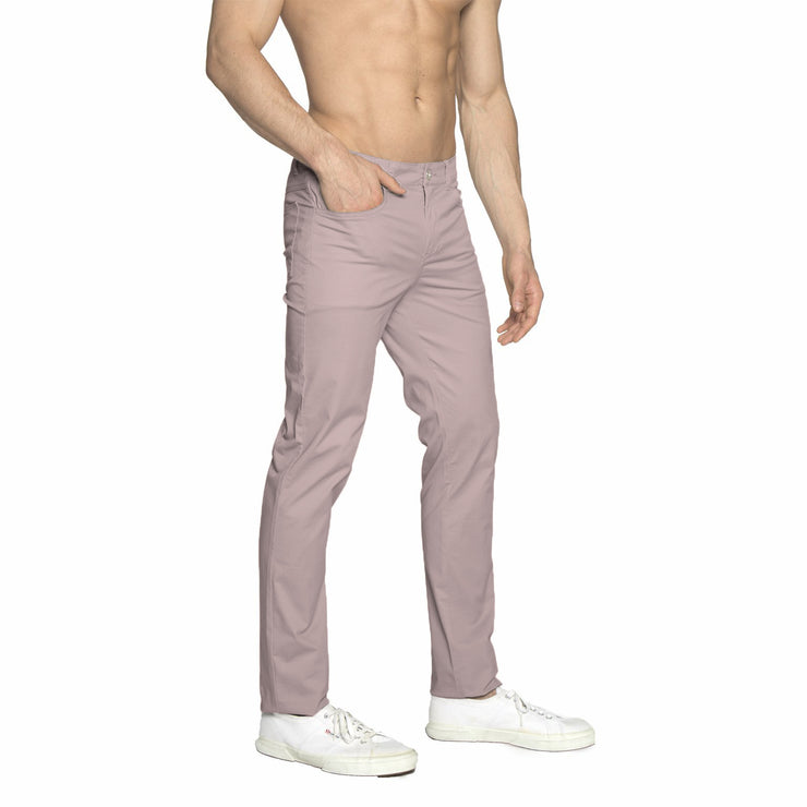Dusty Pink Solid Stretch Apollo Jean - parke & ronen