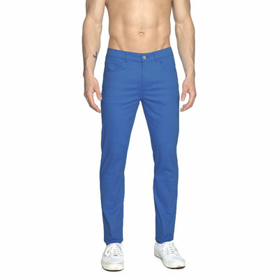 Sea Blue Solid Stretch Apollo Jeans - parke & ronen