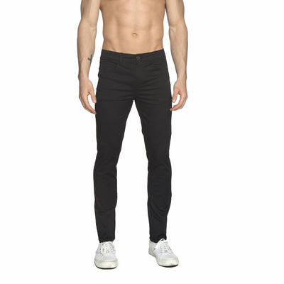 Black Solid Stretch Apollo Jeans - parke & ronen