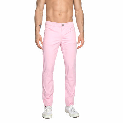 Candy Pink Solid Stretch Apollo Jeans - parke & ronen