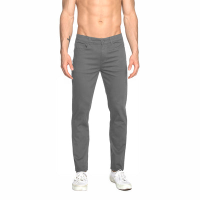 Dark Grey Solid Stretch Apollo Jeans - parke & ronen