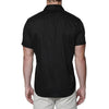 [parke & ronen] Solid Stretch Poplin Short Sleeve Shirt - black (Thumbnail)