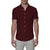 [parke & ronen] Solid Stretch Poplin Short Sleeve Shirt - maroon (Thumbnail)