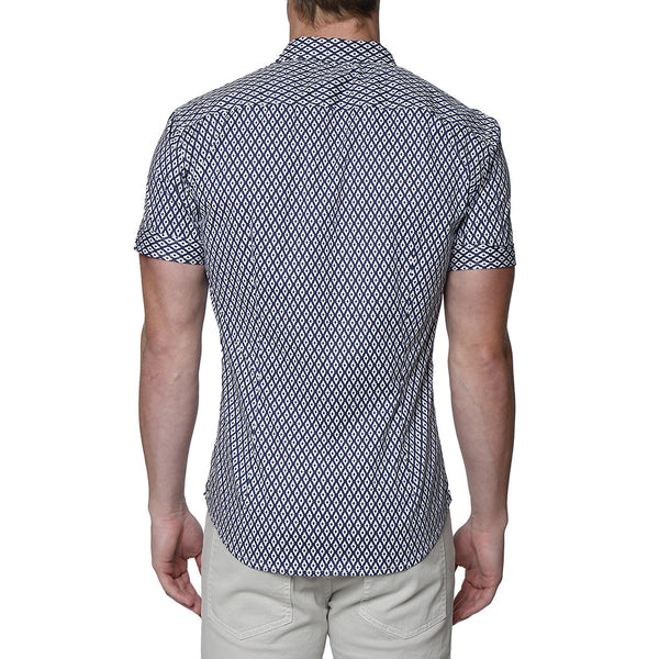 Diamond Print Short Sleeve Shirt
