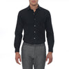 [parke & ronen] Solid Stretch Poplin Long Sleeve Shirt - black (Thumbnail)