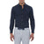 [parke & ronen] Solid Stretch Poplin Long Sleeve Shirt - navy (Thumbnail)