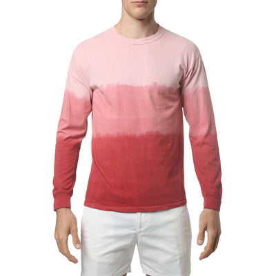 Red South Sea Triple Dye Long Sleeve Tee - parke & ronen