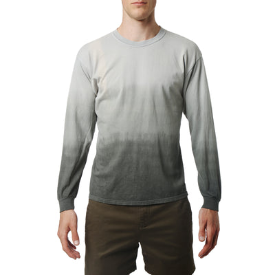 Grey South Sea Triple Dye Long Sleeve Tee - parke & ronen