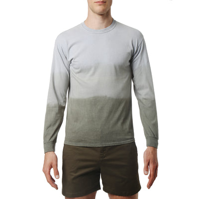 Olive South Sea Triple Dye Long Sleeve Tee - parke & ronen