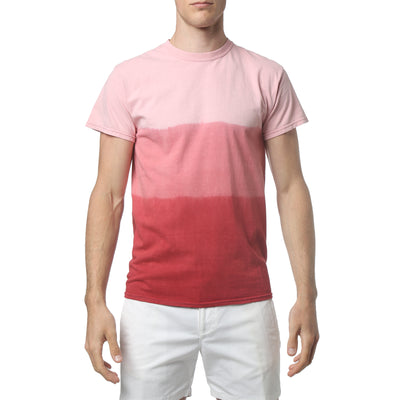 Red South Sea Triple Dye Short Sleeve Tee - parke & ronen