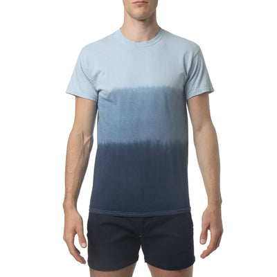 Navy South Sea Triple Dye Short Sleeve Tee - parke & ronen