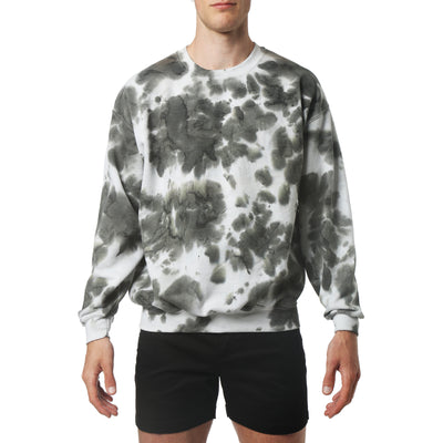 Army Green Brea Blot Wash Sweatshirt - parke & ronen