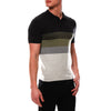 [parke & ronen] Bold Contrast Striped Sunset Knit Polo - sunset forrest (Thumbnail)