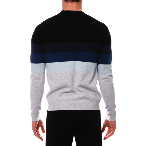 Sunset Colorblock Knit Henley