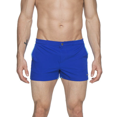 "Cerulean 2"" Angeleno Solid Stretch Swim Trunk - parke & ronen"