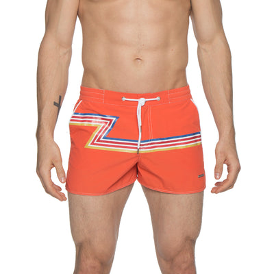 "2"" Barcelona Dry Cloth Swim Trunk, Zed Print - parke & ronen"