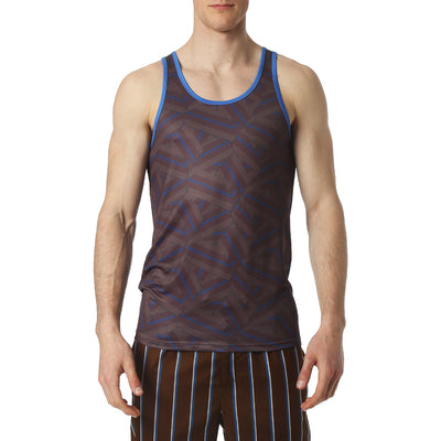 Dragon Brown Print Tank Top - parke & ronen
