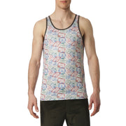 Passport Print Tank Top - parke & ronen